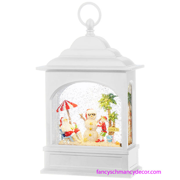 Santa on Vacation Lighted Water Lantern by RAZ Imports