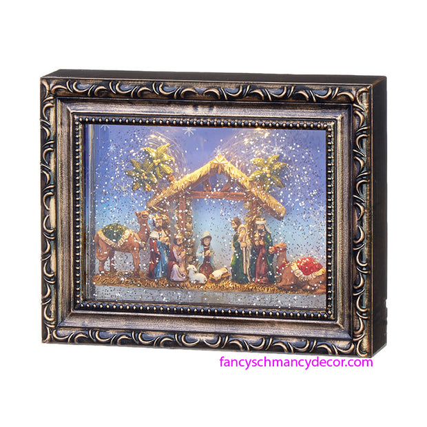 Nativity Lighted Water Picture Frame by RAZ Imports