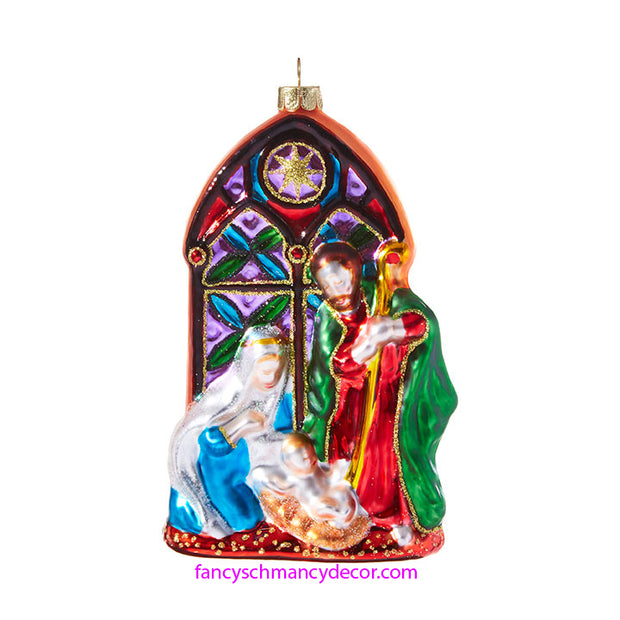 Stained Glass Nativity Ornament by RAZ Imports
