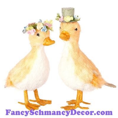 "8.5"" Ducks  Assorted Set of 2 by RAZ Imports"