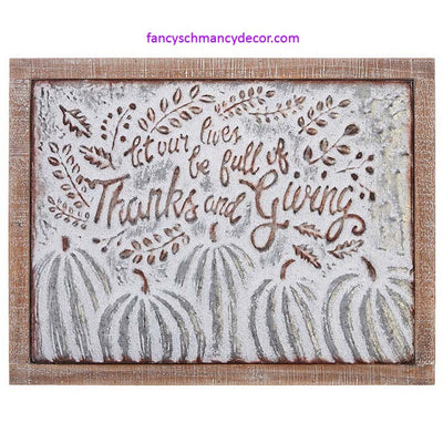 Thanks and Giving Pumpkin Sign by RAZ Imports