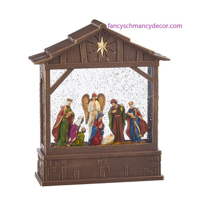 "10"" Nativity Musical Lighted Water Creche by RAZ Imports"