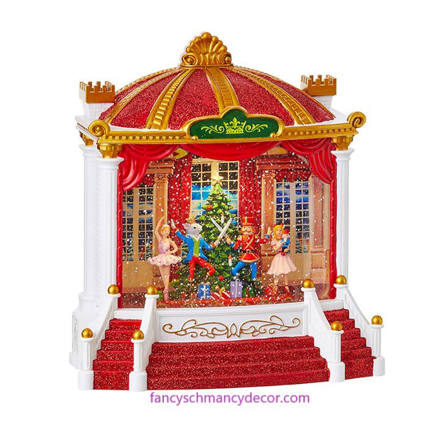 "9.5"" Nutcracker Ballet Musical Lighted Water Theatre by RAZ Imports"