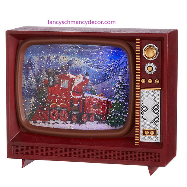 "10"" Santa Express Musical Lighted Water TV by RAZ Imports"