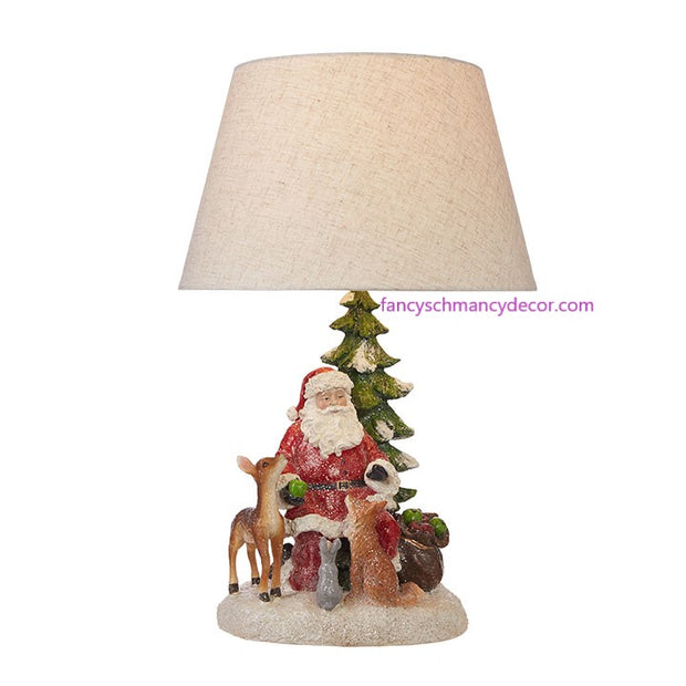 "21"" Santa Lamp with Shade by RAZ Imports"
