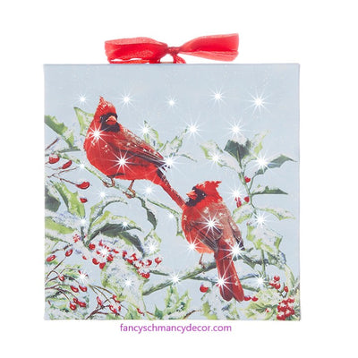 "6"" Cardinal Lighted Print Ornament by RAZ Imports"