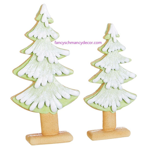 "15.5"" Green Gingerbread Cookie Tree by RAZ Imports"