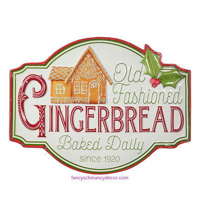 "18"" Old Fashioned Gingerbread Sign by RAZ Imports"