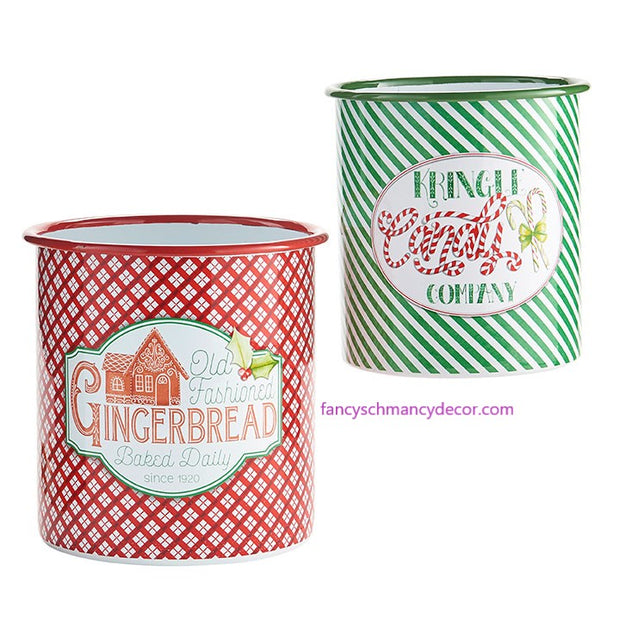 "7.25"" Kringle Candy Co. Container by RAZ Imports"
