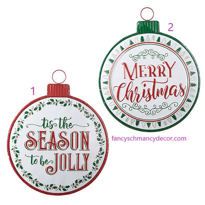 "19.75"" Holiday Message Ornament Sign by RAZ Imports"