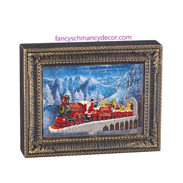 "10"" Santa Express Lighted Water Picture Frame by RAZ Imports"