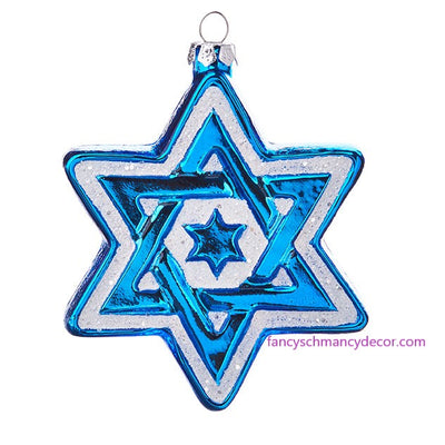 "5"" Star of David Ornament by RAZ Imports"