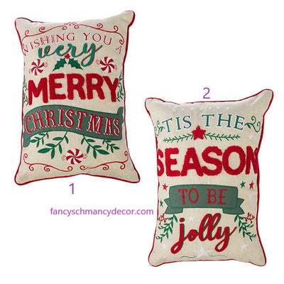 "20"" Holiday Pillow by RAZ Imports"