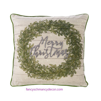 "18"" Merry Christmas Pillow by RAZ Imports"