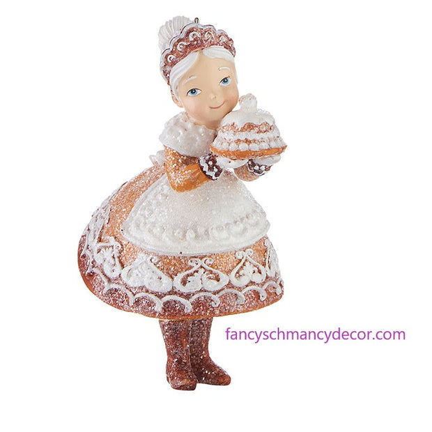 "5"" Gingerbread Mrs. Claus Ornament by RAZ Imports"