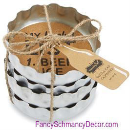 Beer Bottle Coasters by Mud Pie - FancySchmancyDecor