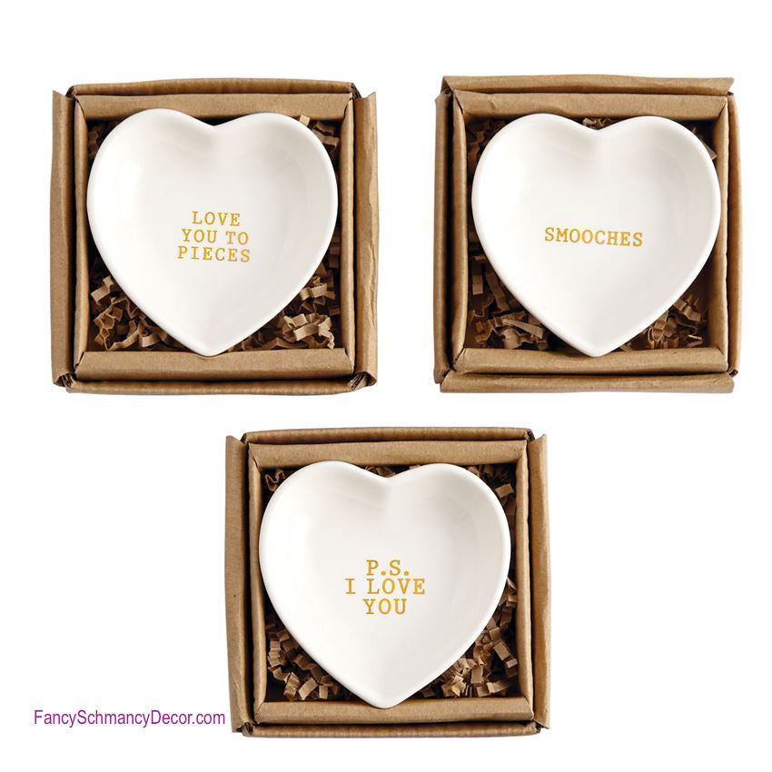 Gold Heart Plate by Mud Pie - FancySchmancyDecor - 1