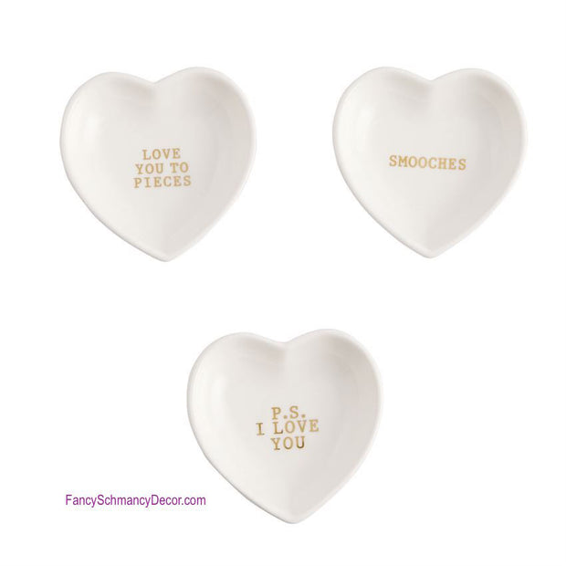 Gold Heart Plate by Mud Pie - FancySchmancyDecor - 2