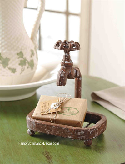Garden Faucet Soap Dish Set by Mud Pie - FancySchmancyDecor