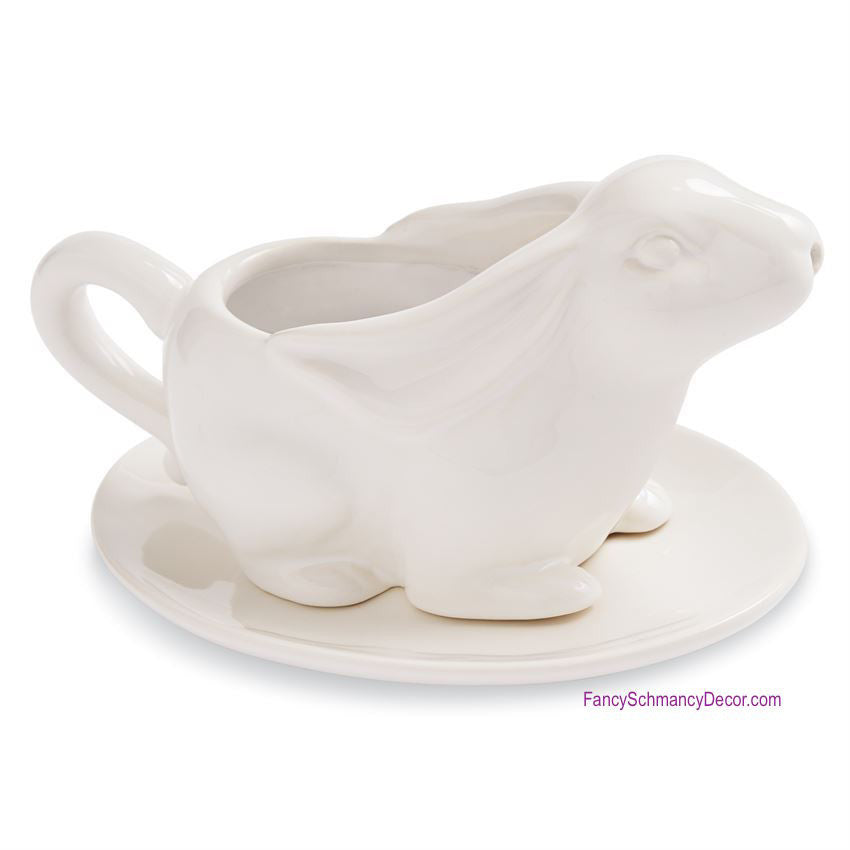 Bunny Gravy Boat Set by Mud Pie