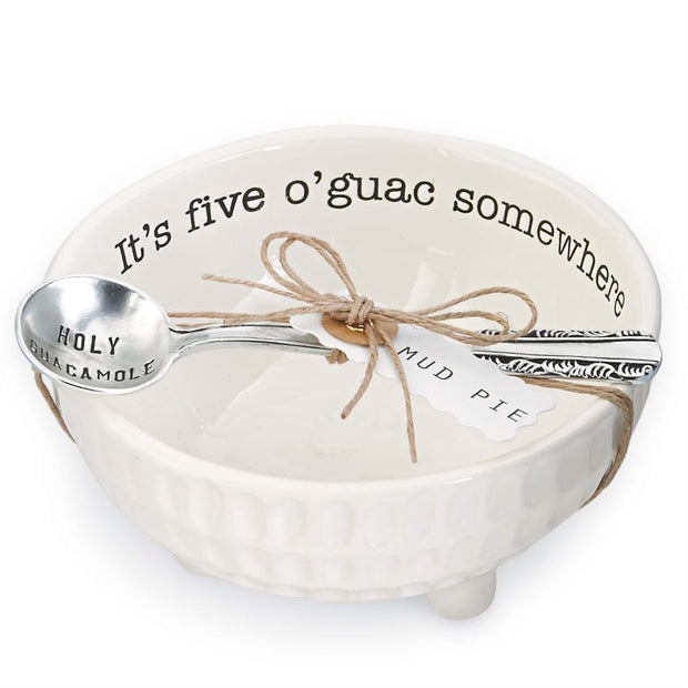 Guacamole Dip Cup Set by Mud Pie