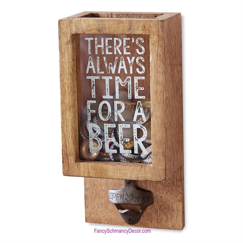 Always Time for Beer Bottle Opener and Box by Mud Pie