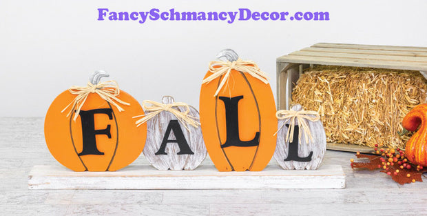 Fall Ribbon Pumpkin Tabletop