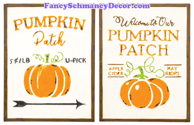 Welcome Pumpkin Patch Plaque
