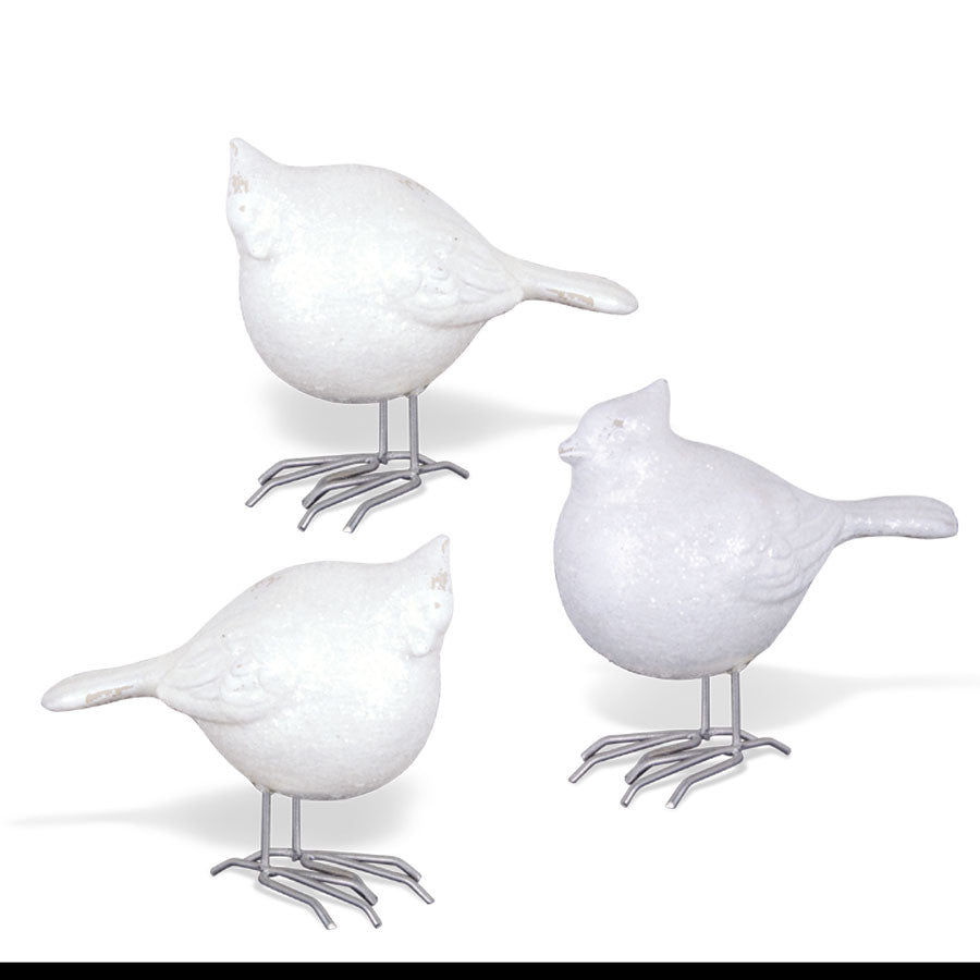 Home Decor - Assorted 4.5 Inch White Porcelain Birds - FancySchmancyDecor