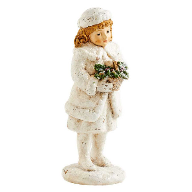 Holiday - Girl Holding Basket - FancySchmancyDecor