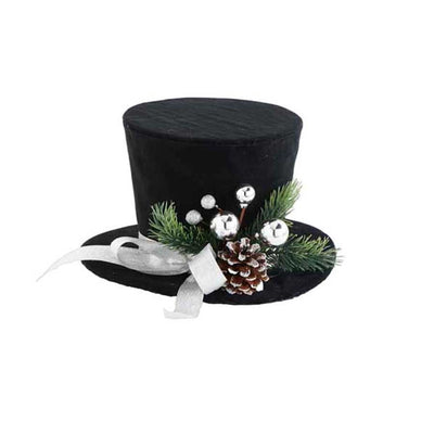 Holiday - Top Hat with Pinecone Ornament - FancySchmancyDecor