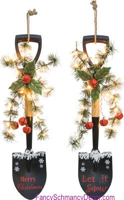 Christmas Shovel Light-Up Hanger