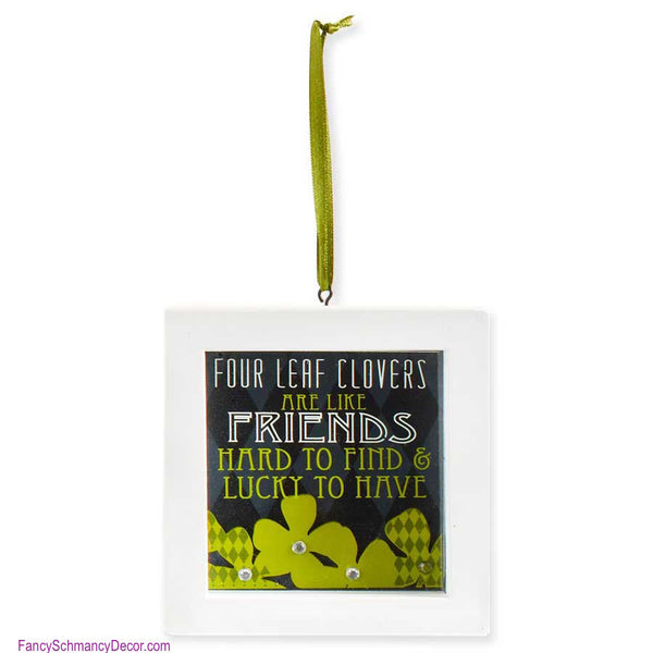 Beautiful Four Leaf Clovers Are Like Friends Mini Shadow Box By Ku0026K Interiors