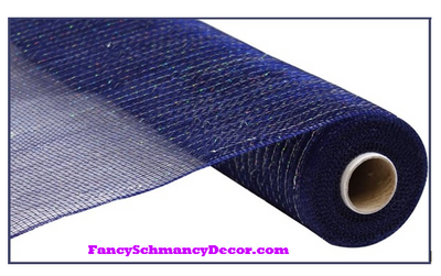 "21"" X 10 yd Navy Blue Mesh"