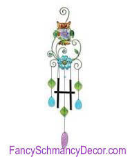 Owl Wind Chime by Sunset Vista Designs - FancySchmancyDecor