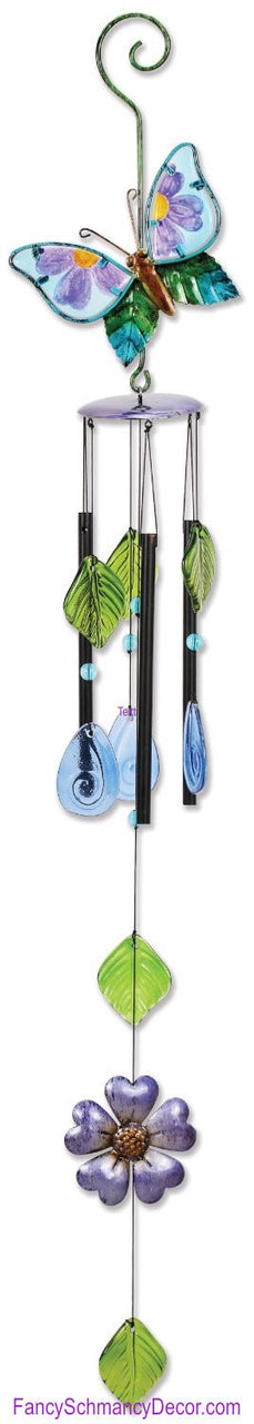 Butterfly Wind Chime by Sunset Vista Designs - FancySchmancyDecor