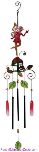 Pink Fairy Wind Chime by Sunset Vista Designs - FancySchmancyDecor