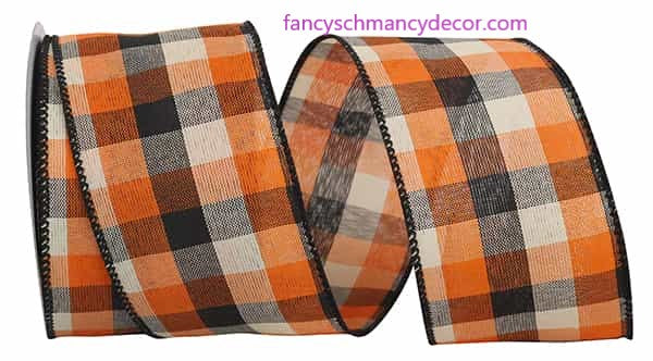 "2.5"" x 10 yds Afternoon Field Tonal Plaid Wired Edge Ribbon"
