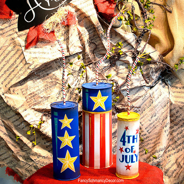 Firecracker Cans by The Round Top Collection A16013 - FancySchmancyDecor