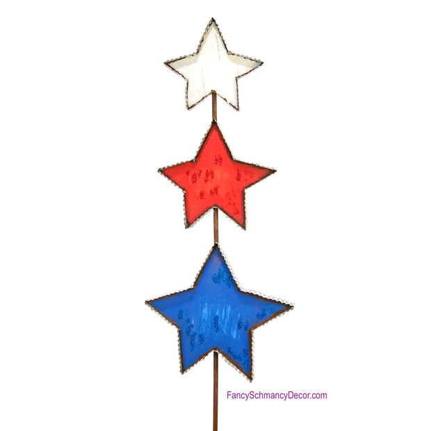 Double Star Flag Stake by The Round Top Collection A16010