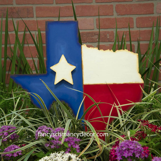 Large Texas-Shaped Flag Stake by The Round Top Collection