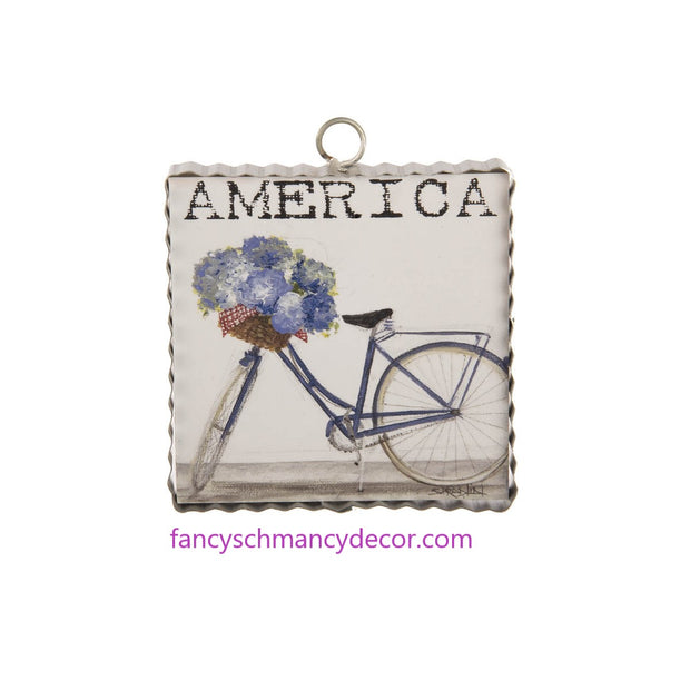 Mini Americana Bike Print by The Round Top Collection