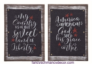 Wood Denim Patriotic Decor