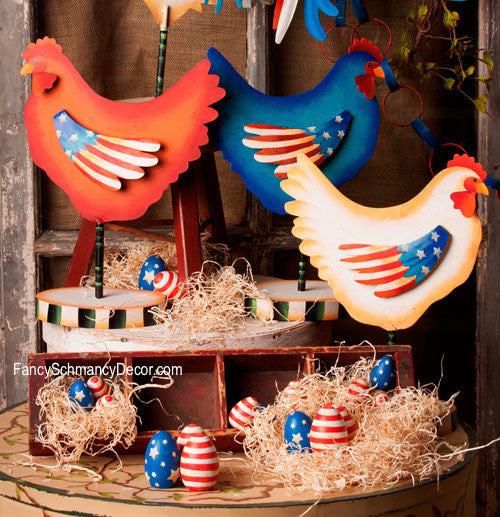 Americana Hen Stake by The Round Top Collection A7004 - FancySchmancyDecor