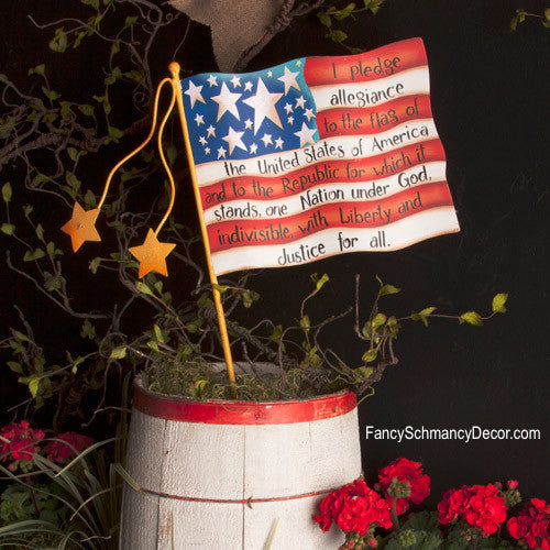 Pledge Flag Small Stake by The Round Top Collection A7018