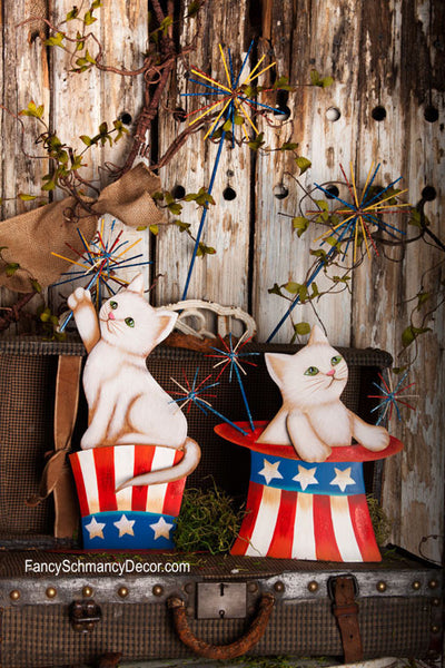Sparkler Kitties Large Stakes by The Round Top Collection A7043 - FancySchmancyDecor