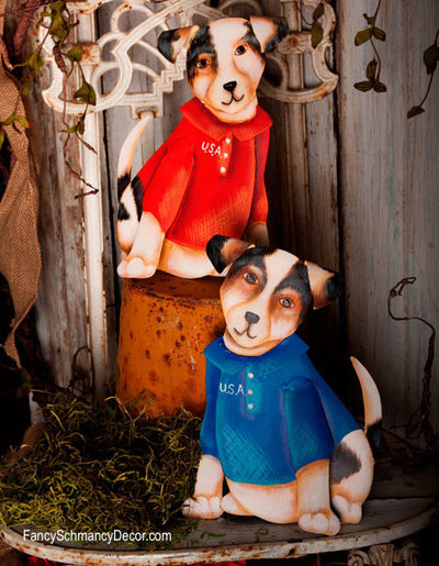 U.S.A. Puppies Small Stakes by The Round Top Collection A7050 - FancySchmancyDecor