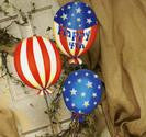 Happy 4th Balloons Large Assorted Set of 3 Stakes by The Round Top Collection A8011 - FancySchmancyDecor