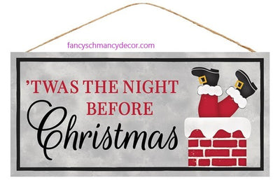 "12.5 ""L X 6"" H Twas the Night Before Christmas Sign"