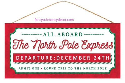 The North Pole Express Sign by Craig Bachman Imports